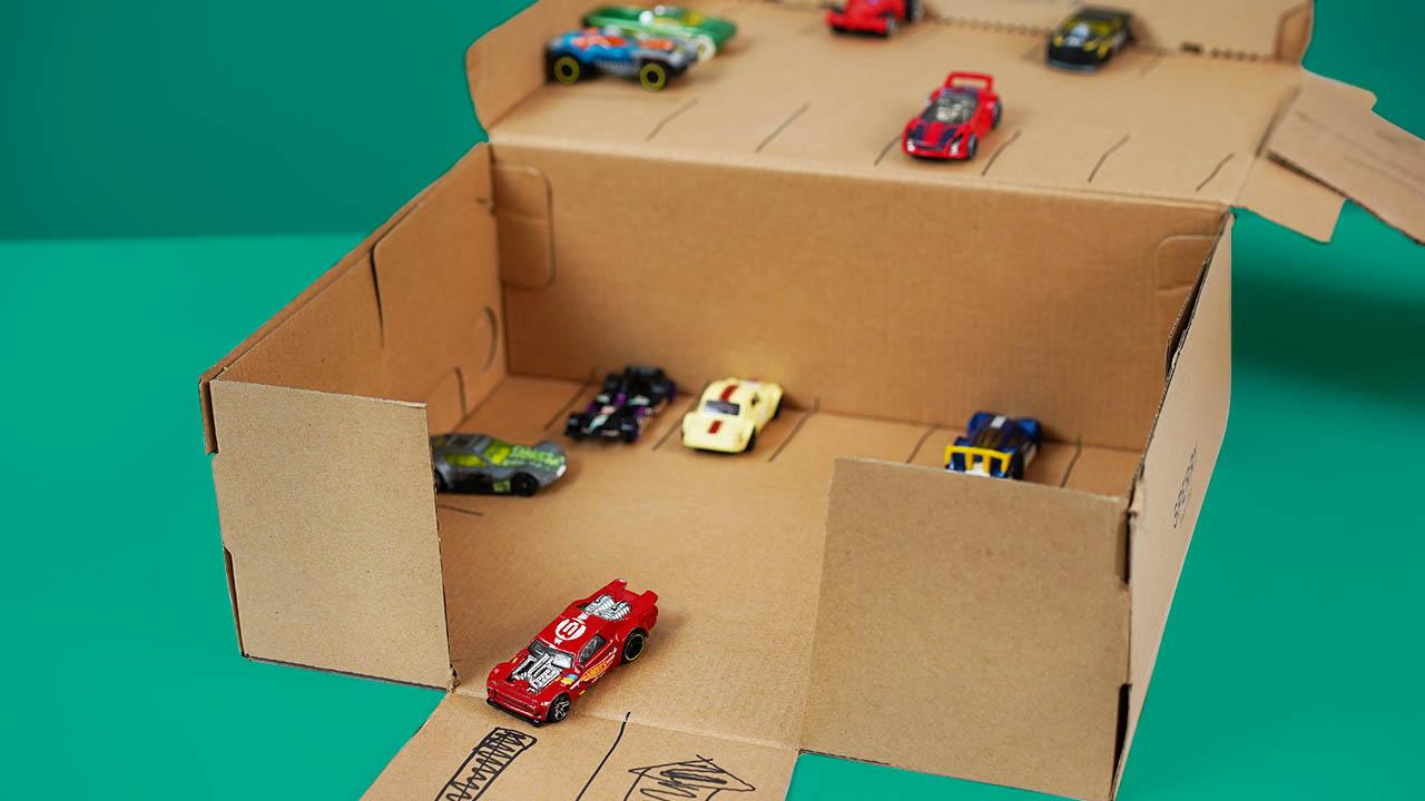 Cardboard Car Garage Kid S Arts Crafts Diy Become A Planet Protector